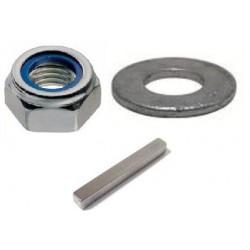 Kit variateur: 1 écrou frein, 1 rondelle et 1 clavette