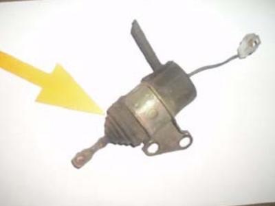 décoller soufflet solénoide arrêt moteur vérifier panne et bon fonctionnement
